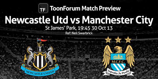 NUFC v MCFC Match Banner